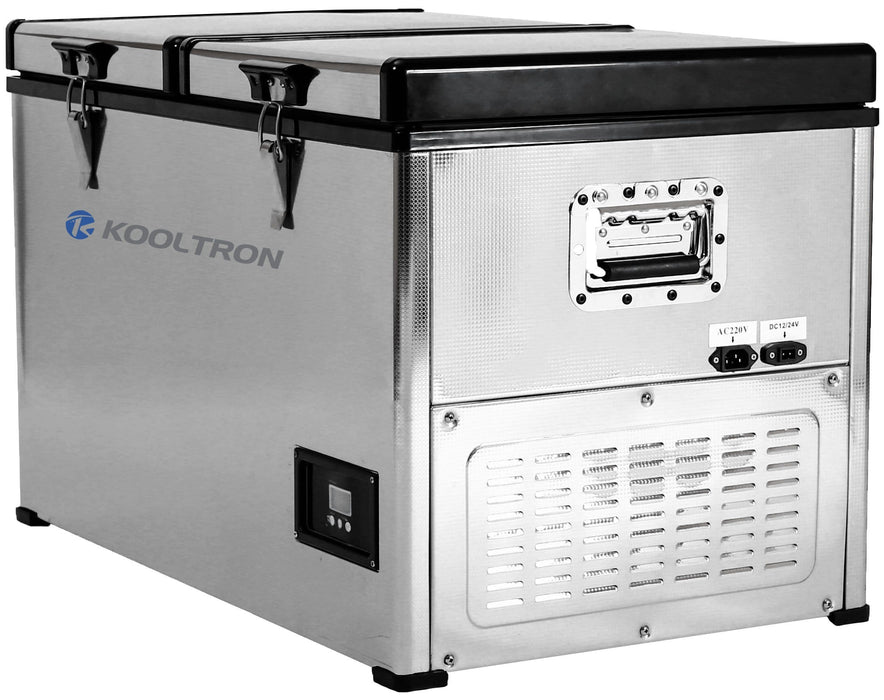 Kooltron 100L Stainless Steel Dual Compartment Fridge / Freezer Camping 12v24v 240v - Ozimall