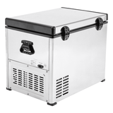 Kooltron 60L Stainless Steel Dual Compartment Fridge / Freezer Camping 12v24v 240v