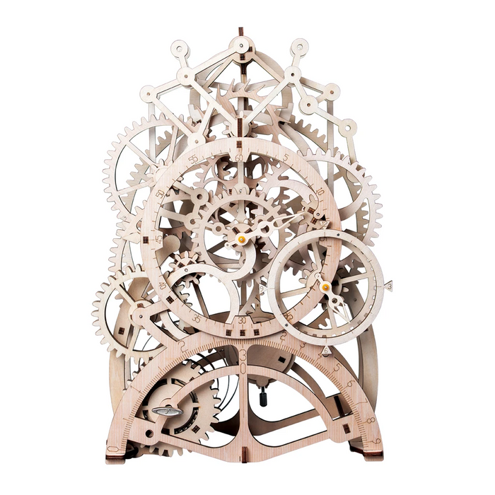 Robotime 3D Puzzle Movement Assembled Wooden Pendulum clock