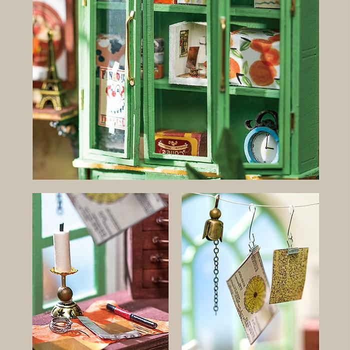 Robotime DIY Mini Dollhouse Jimmy's Studio Home Office DGM07