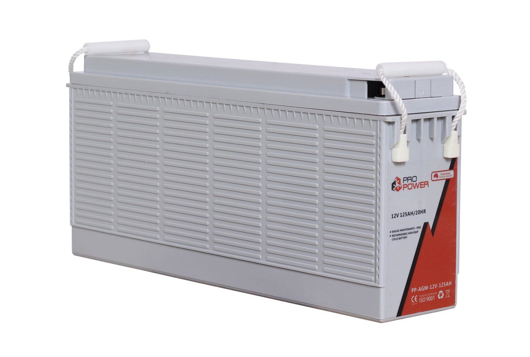 Pro Power 12V Volt 125AH AGM Deep Cycle Battery Caravan 4WD Boat Solar System - Ozimall