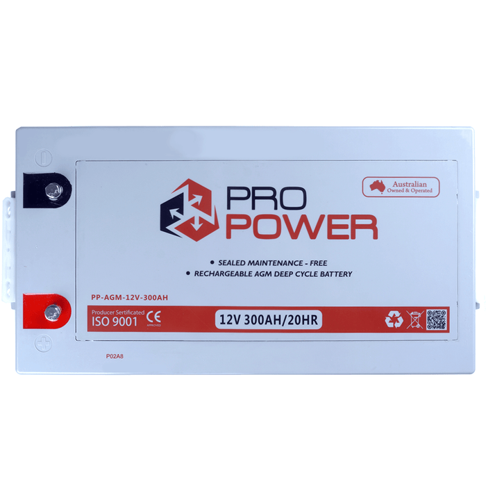 Pro Power 12V Volt 300AH AGM Deep Cycle Battery Caravan 4WD Boat Solar System