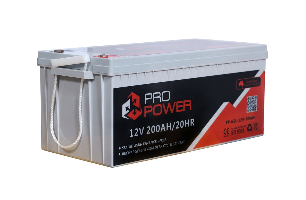 Pro Power 12V Volt 200AH GEL Deep Cycle Battery Caravan 4WD Boat Solar System