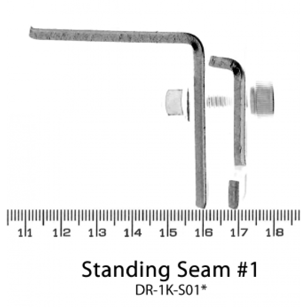 Standing Seam Roof Hook - Plate Only (Butler Roof) For Solar Panel Installation x 5