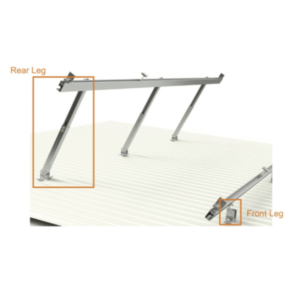 Adjustable Rear Leg Mid For Solar Panel Installation x 5