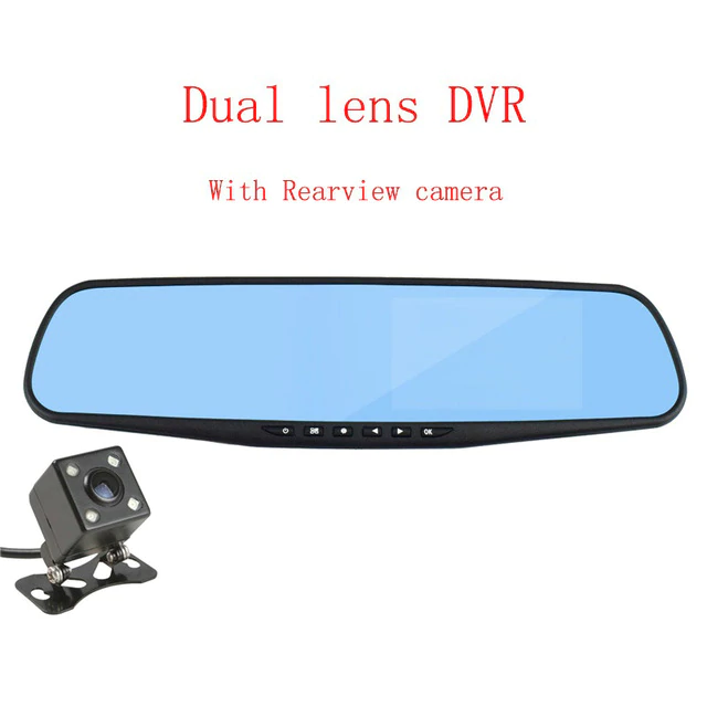 YASOKRO DVR Dual Lens Car Camera Full HD 1080P Video Recorder Rearview Mirror With Rear view DVR Dash cam Auto registrater