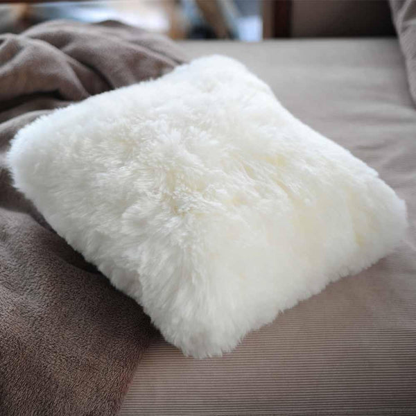 Genuine Australian Luxrious Soft Sheepskin Lambskin Pillow Cover 45cm*45cm