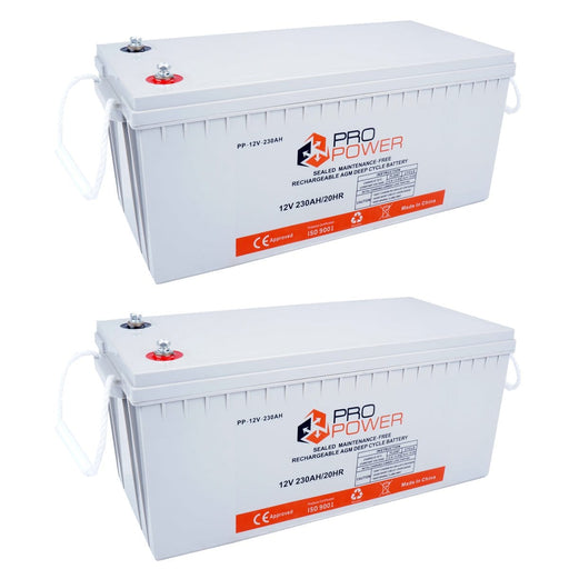 Pro Power 24V Volt 24V 230AH  AGM Deepcycle Battery Bank 4wd Boat Solar System - Ozimall