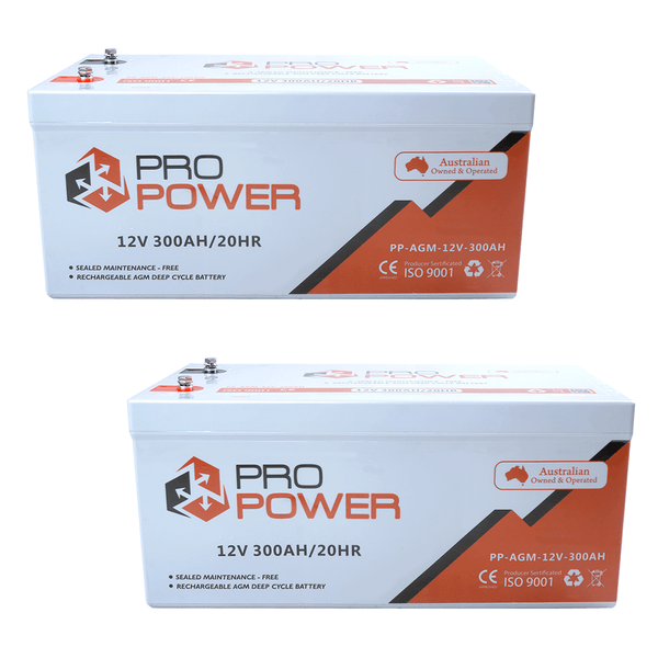 Pro Power 24V Volt 24V 300AH  AGM Deepcycle Battery Bank 4wd Boat Solar System