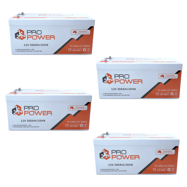 Pro Power 24V Volt 24V 600AH  AGM Deepcycle Battery Bank 4wd Boat Solar System