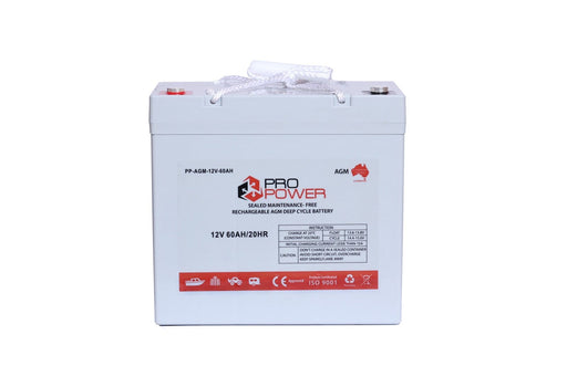 Pro Power 12V 12Volt 60AH AGM Deep Cycle Battery Caravan 4WD Boat Solar System - Ozimall