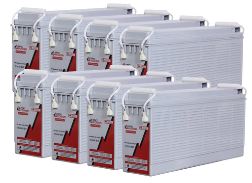 Pro Power 48V Volt 250AH AGM Deep Cycle Battery Caravan 4WD Boat Solar System - Ozimall
