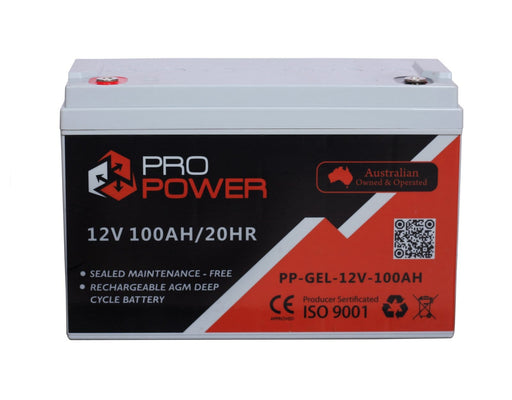Pro Power 12V Volt 100AH GEL Deep Cycle Battery Caravan 4WD Boat Solar System - Ozimall