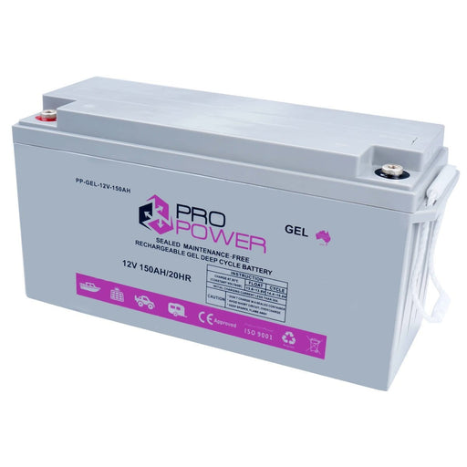 Pro Power 12V Volt 150AH GEL Deep Cycle Battery Caravan 4WD Boat Solar System - Ozimall