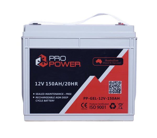 Pro Power 12V Volt 150AH GEL Deep Cycle Battery Caravan 4WD Boat Solar System
