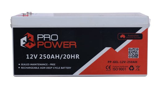 Pro Power 12V Volt 250AH GEL Deep Cycle Battery Caravan 4WD Boat Solar System - Ozimall