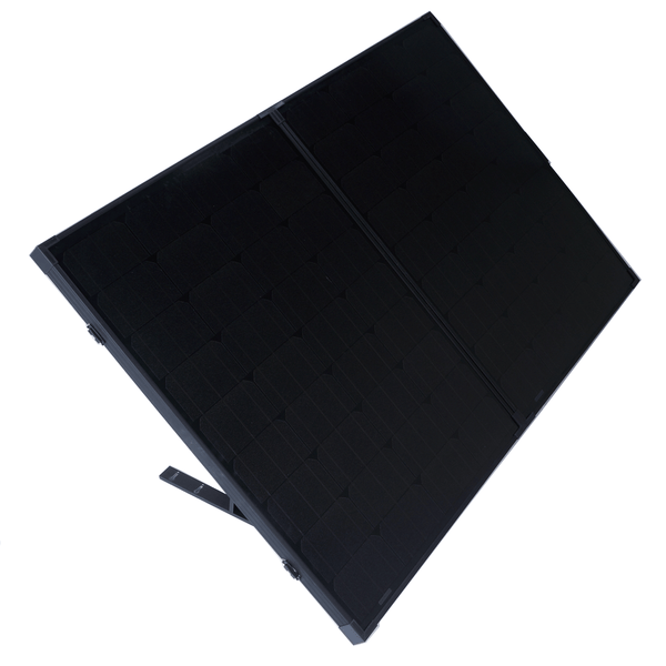 160w Portable Mono Solar Panel 12v Folding Kit For Camping Caravan Boat Charging