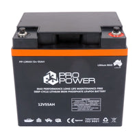 Pro Power 12V Volt 55ah Lithium LiFePo4 High Discharge 5C Battery Solar 4WD Caravan