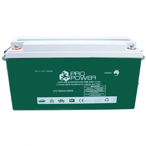 Pro Power 12V 150ah Lithium Iron LiFePo4 Deep Cycle Battery Solar 4WD Caravan - Ozimall