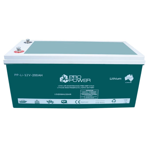 Pro Power 12V 200ah Lithium Iron LiFePo4 Deep Cycle Battery Solar 4WD Caravan - Ozimall