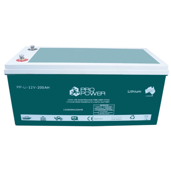 Pro Power 12V 200ah Lithium Iron LiFePo4 Deep Cycle Battery Solar 4WD Caravan