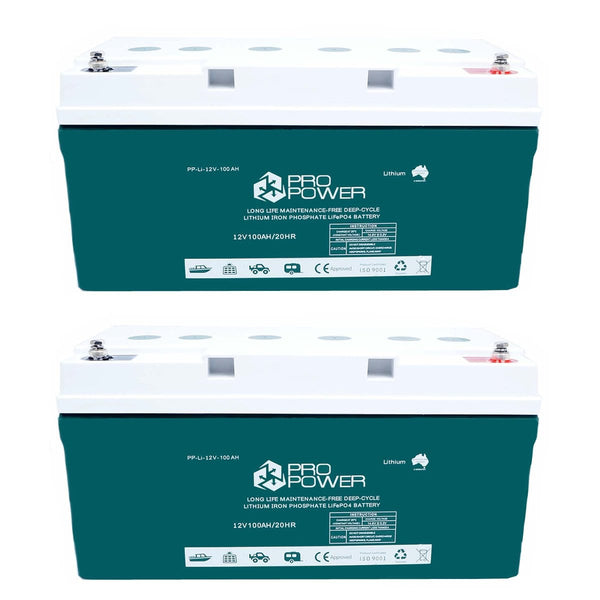 Pro Power 24V 100ah Lithium Iron LiFePo4 Deep Cycle Battery Solar 4WD Caravan
