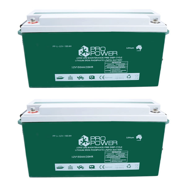 Pro Power 24V 150ah Lithium Iron LiFePo4 Deep Cycle Battery Solar 4WD Caravan