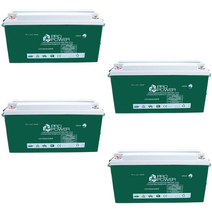 Pro Power 48V 150ah Lithium Iron LiFePo4 Deep Cycle Battery Solar 4WD Caravan - Ozimall