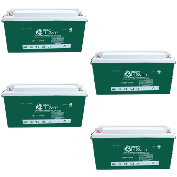 Pro Power 48V 150ah Lithium Iron LiFePo4 Deep Cycle Battery Solar 4WD Caravan