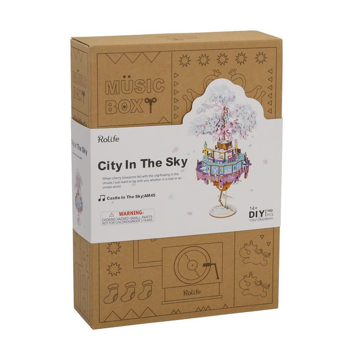 Robotime New DIY Music Box - City In The Sky
