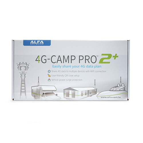 Alfa 4G Camp Pro 2+ Cellular 4G Data Booster Kit- R36AH + Tube-U4Gv2 + AOA-4G-5AM Antenna