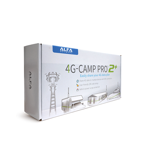 ALFA 4G-Camp Pro 2+ Cellular 4G Data Booster Kit- R36AH + Tube-U4Gv2 + AOA-4G-5AM Antenna