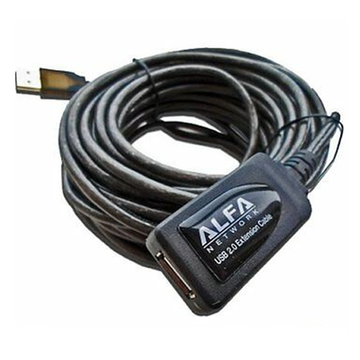 Alfa 10M/32ft USB Active Repeater Extension Cable Type A Male to Female AUSBC-10M