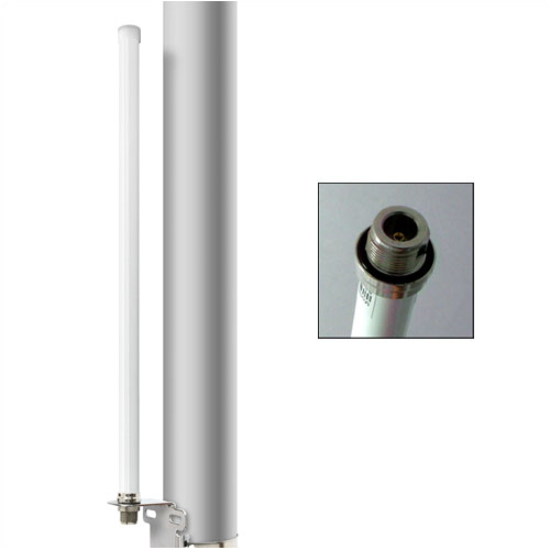 Alfa 9 dBi AOA-2409N outdoor Wi-Fi omni-directional antenna + mount bracket kit
