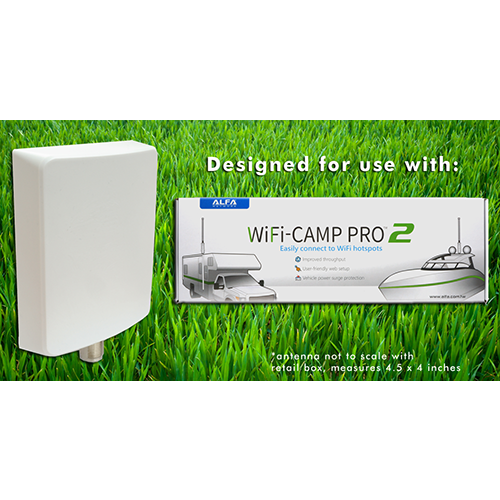 ALFA APA-L2410 10 dBi outdoor Wi-Fi directional panel antenna for Alfa Camp Pro 2, APA-L2410A