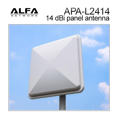 Alfa APA-L2414 14 dBi gain outdoor 2.4 GHz WiFi directional panel antenna
