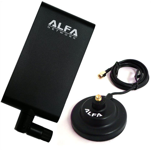 ALFA APA-M25 2.4/5 GHz dual band 10 dBi antenna +magnetic docking base