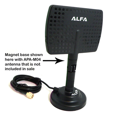 ALFA ARS-AS01 Magnetic Base mount dock magbase for RP-SMA antennas