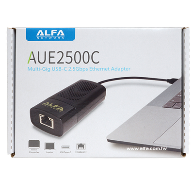 Alfa AUE2500C Multi-Gig USB-C 3.1 to 2.5GBASE-T Ethernet adapter