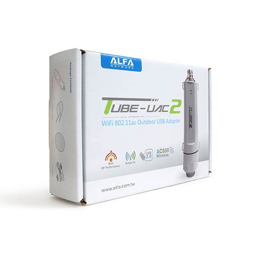 ALFA Tube-UAC2 802.11ac Dual Band 2.4/5 GHz outdoor long range client USB adapter