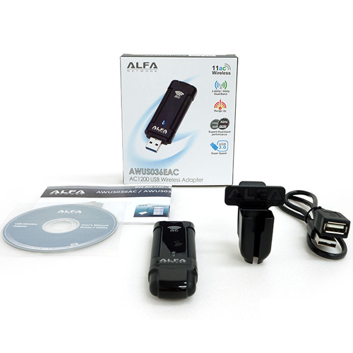 ALFA AWUS036EAC 802.11ac AC1200 Dual Band WiFi USB Adapter Dongle