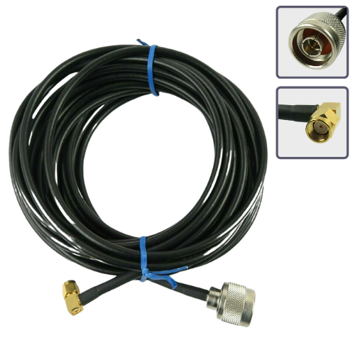RP-SMA male to N male antenna extension cable 6m/20