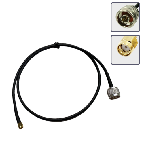 RP-SMA male to N male antenna extension cable 1m/3