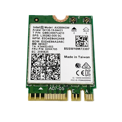 ALFA AX200NGW Mini PCIe Module WiFi 6 + Bluetooth 5.1