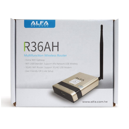 Alfa R36AH Multifunction Wireless Router for Alfa USB WiFi adapter or 4G Modem