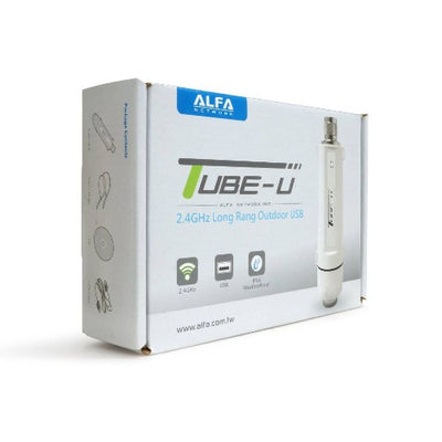ALFA Tube-UNA Atheros USB Wi-Fi adapter long range booster for PC or Camp Pro Router