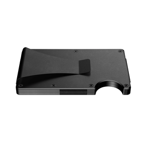 Black aluminum money clip wallet