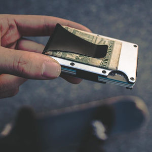 Credit card holder wallet with money clip
