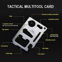 Load image into Gallery viewer, Tactical Multitool Card