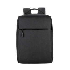 Black waterproof laptop backpack for men and women